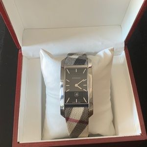 Burberry Ladies Swiss Quartz Check Watch